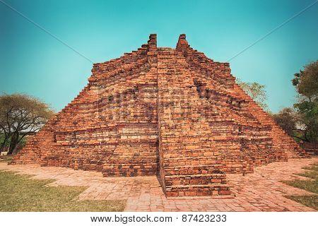 Wat Wora Pho.Ayutthaya historical park.