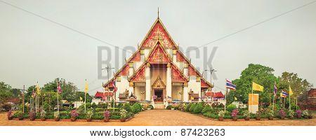 Wihan Phramongkhon Bophit. Ayutthaya historical park.