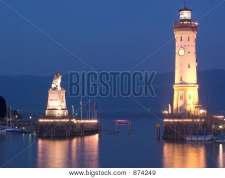 Lindau Lighthouse Landscape