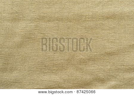 Rough Woven Texture Fabric Of Sand Color