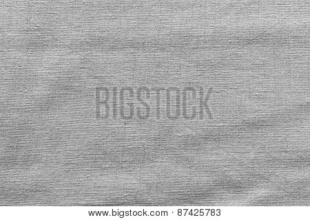 Rough Woven Texture Fabric Of Gray Color