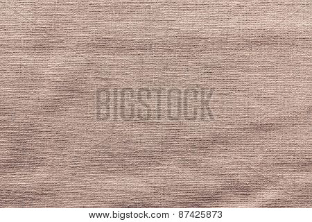 Rough Woven Texture Fabric Of Brown Color