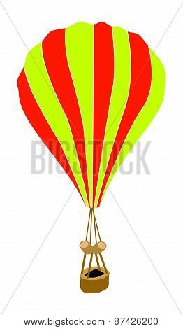 Yellow And Orange Parachute On White Background