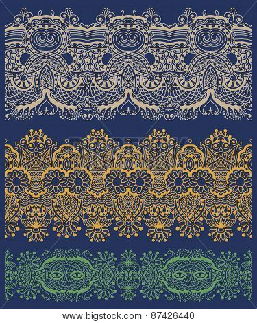 ethnic floral paisley stripe pattern