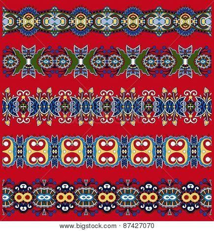 floral paisley stripe pattern, border set