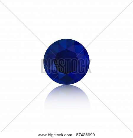 synthetic cubic zirconia semi-precious gem single isolated on white