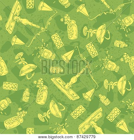Pharmaceutical Seamless vector pattern