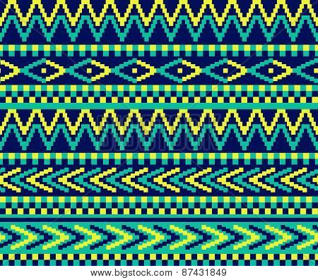 Pixeled Brazil Pattern