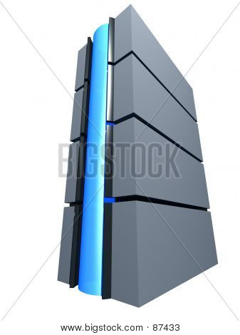 Tower With Blue Button