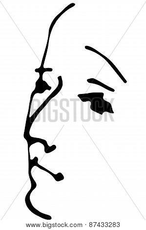 Vector Sketch Portrait Of An Adult