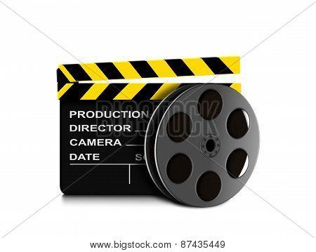 Film Reel And Clapper Board Icon