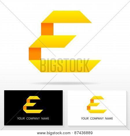 Letter E logo icon design template elements - Illustration