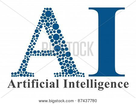 AI - Artificial Intelligence With Dotted A