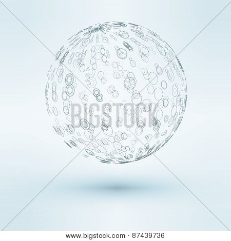3D vector illustration of sphere