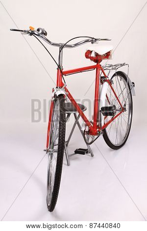 red vintage bicycle