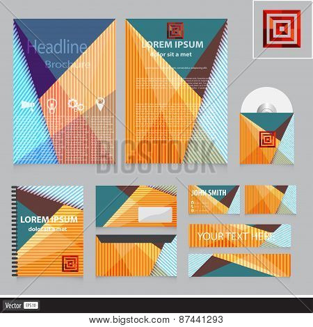 Corporate Identity For Your Company. Abstract Business Colorful Concept. Vector Creative Idea With G