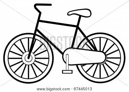 Single bicycle with wheels and handle