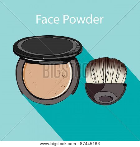 face powder style flat