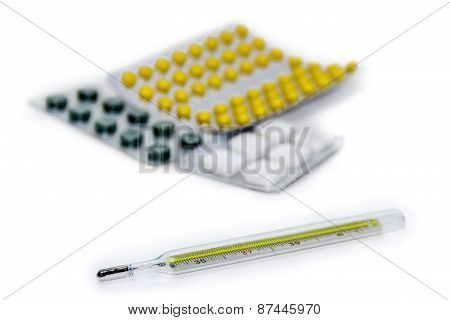 Thermometer And Packaging Of Medicines