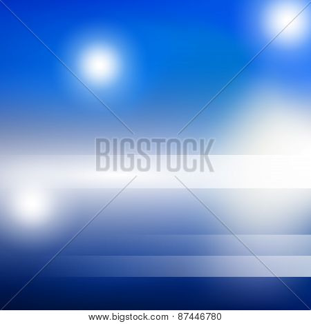 Blue bright light background vector illustration