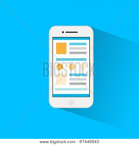 cell smart phone icon flat design vector