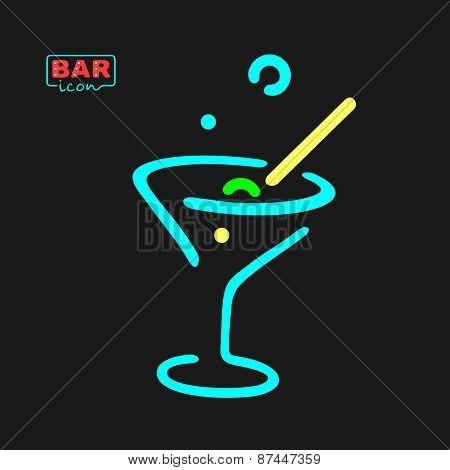 Neon Glass Symbol