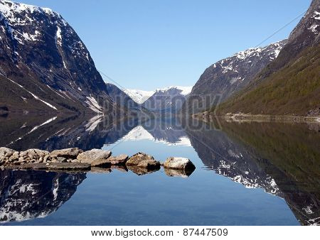 Landscape Of Fiord In Norway