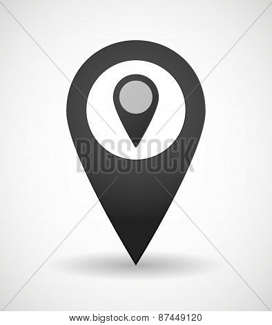 Map Mark Icon With A Map Mark