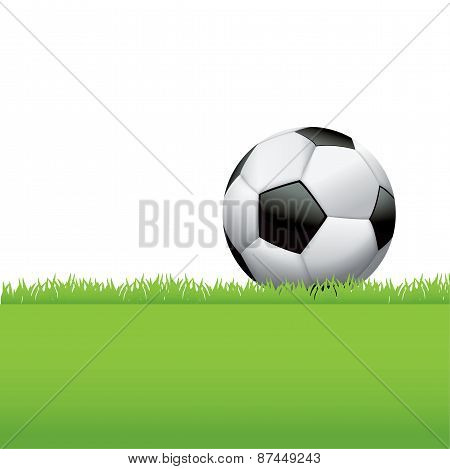 Soccer Ball Sitting In Grass Background Illustration