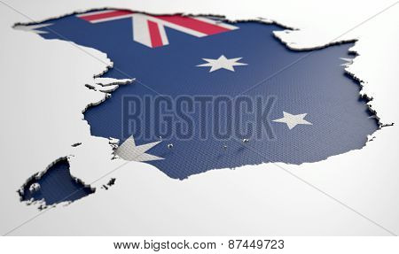 Recessed Country Map Australia