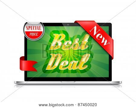 Best Deal Banner Vector Design