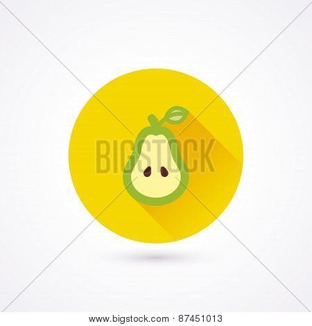 Flat Icon. Pear