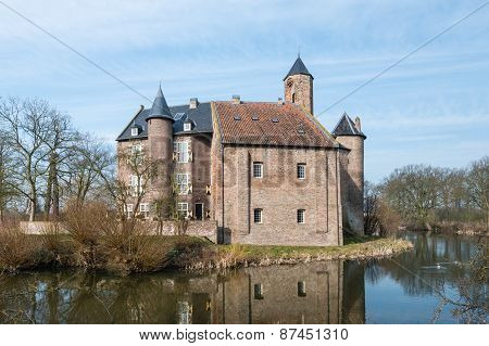 Old Dutch Castle In Early Morning Light