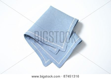 blue place mat on white background