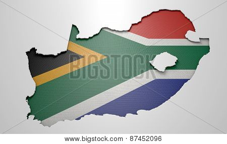 Recessed Country Map South Africa