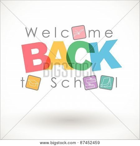 Welcome back to school Vector Background
