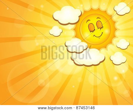 Image with happy sun theme 4 - eps10 vector illustration.