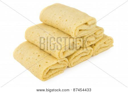 Heap Of Pancakes With Filling