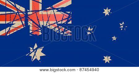 Worn Flag of Australia