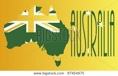 Australia Yellow and Green Background
