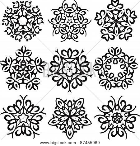 Calligraphic decorative elements