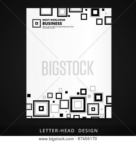 letter head vector design with square elements illustration