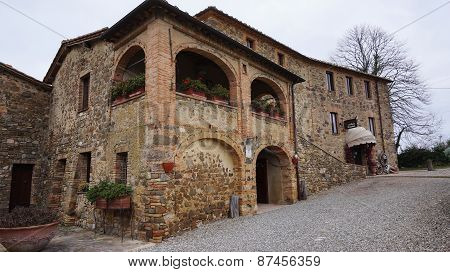 Castillo Banfi,  Old Castle N Montalcino, Italy