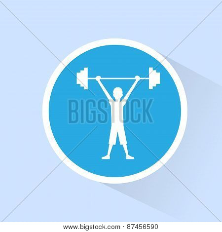 sport fitness man barbell exercise workout