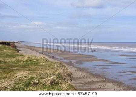 Natural Seaside Environment, Withernsea Uk