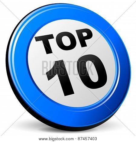 Top Ten Blue Icon