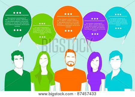 People Group Chat Social Network Communication