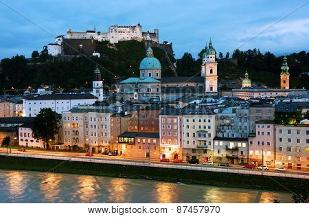 Aerial View of Salzburg, Austria, Europe
