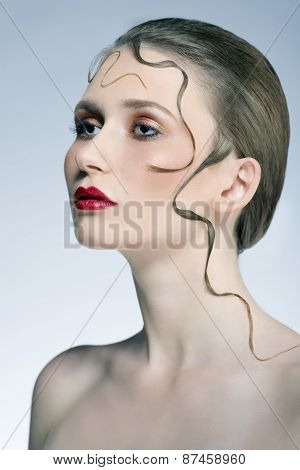 Girl With Creative Hair-style