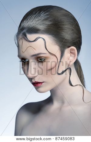 Woman With Decorative Hair-style